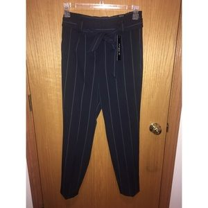 Express pinstripe navy pants